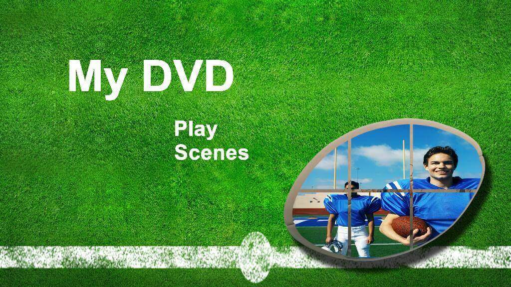 Sport DVD menu template