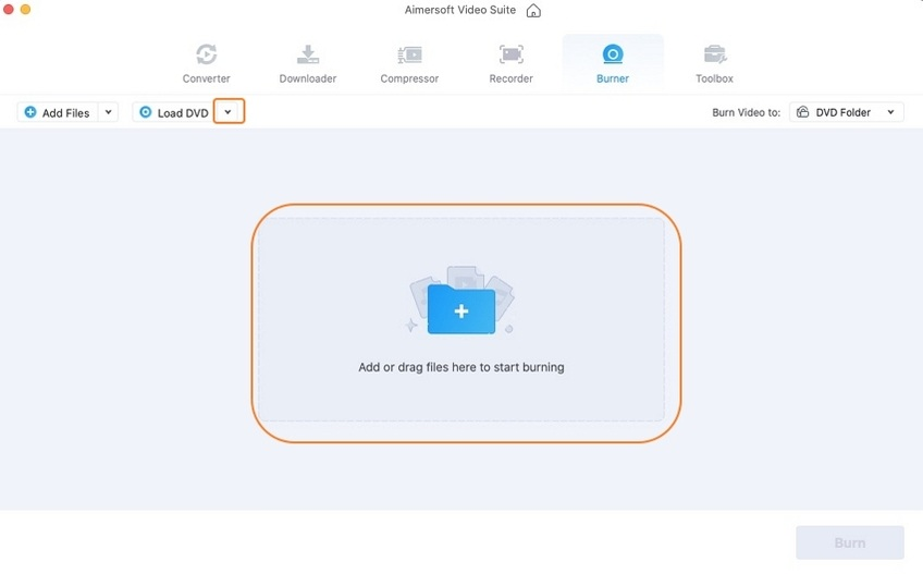 Upload your DVD file on Mac