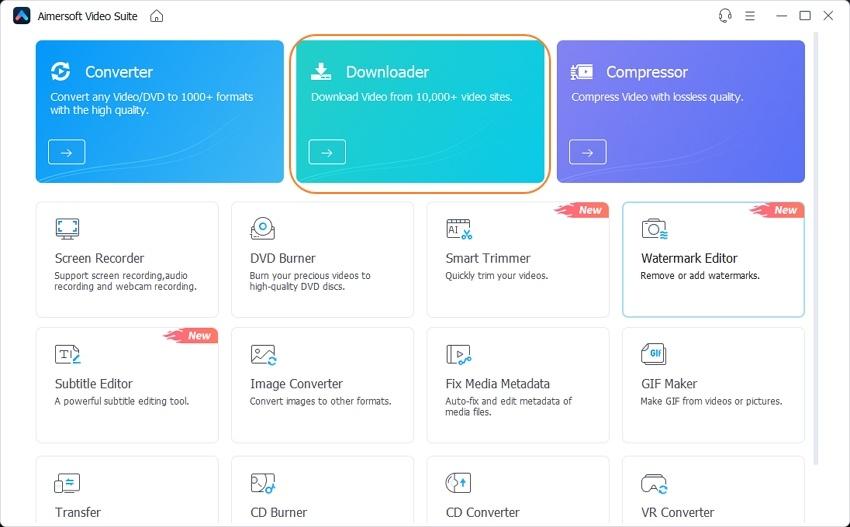 Open Aimersoft Video Suite