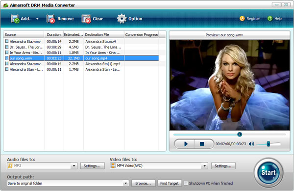 aimersoft drm media converter add