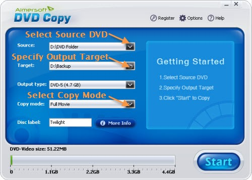 copy commercial dvd movie