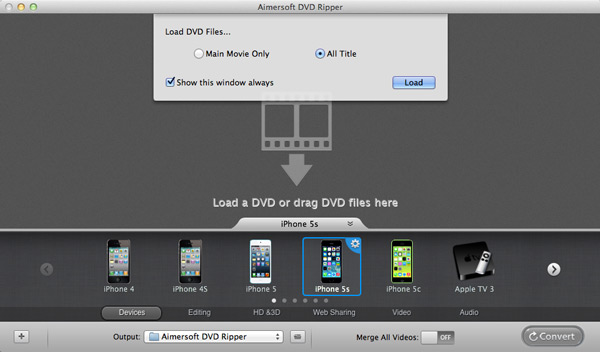 load dvd to ipod converter