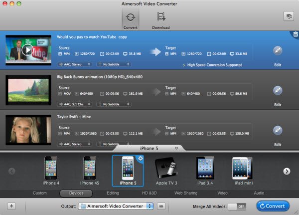 convert flv to imovie