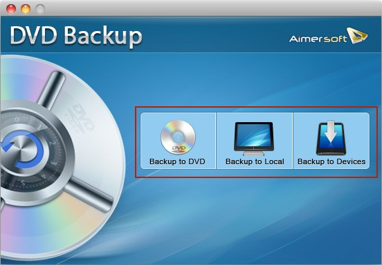 Aimersoft DVD Backup for Mac Screenshot