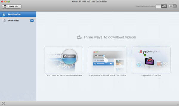 aimersoft free youtube downloader for mac