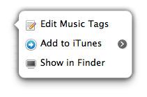 Edit music tags