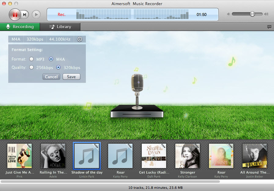 Aimersoft Music Recorder for Mac - Record online music