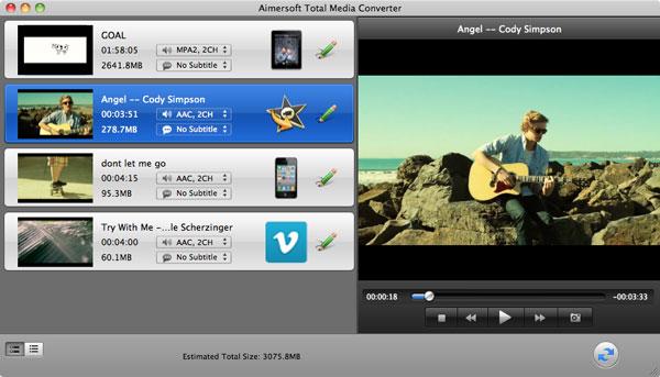 aimersoft mac total media converter add