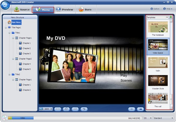 convert Panasonic video to DVD