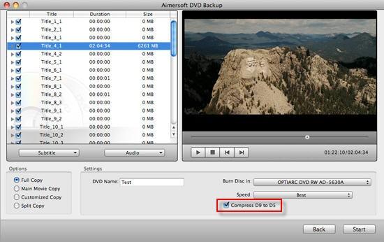 Compress DVD9 to DVD5 Mac