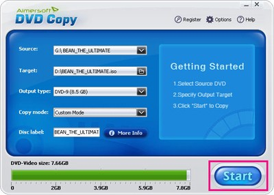 Copy DVD to ISO