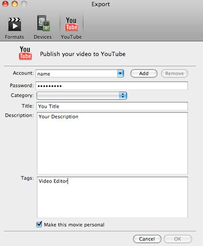 Edit YouTube videos