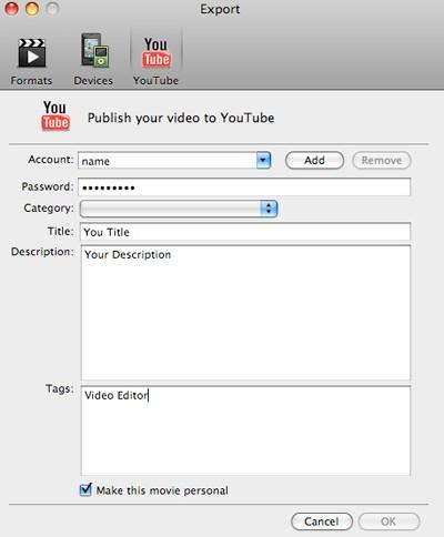 Edit YouTube videos