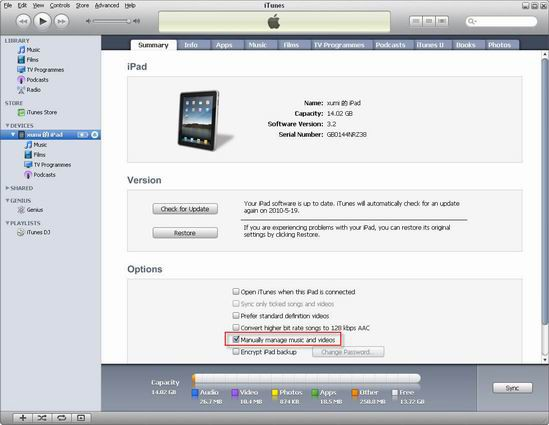 add itunes to ipad
