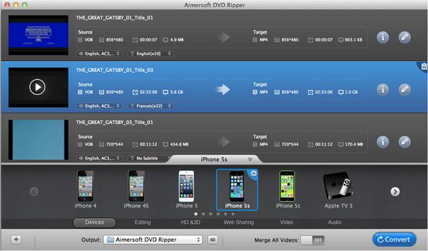 Convert DVD to M4V Mac