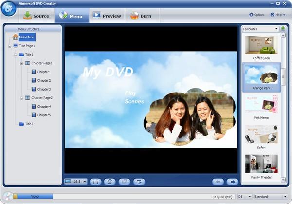 convert vuze to dvd