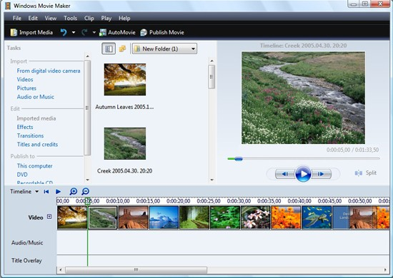 windows movie maker vs windows live movie maker