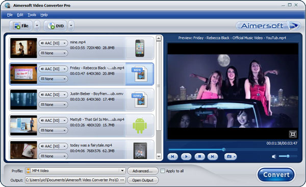 aimersoft video converter pro add