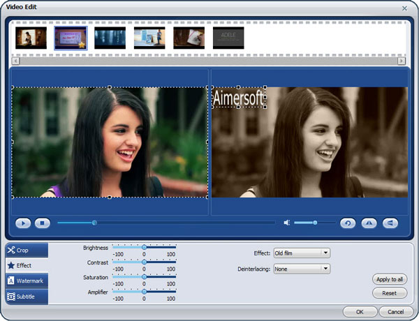 aimersoft video converter pro edit