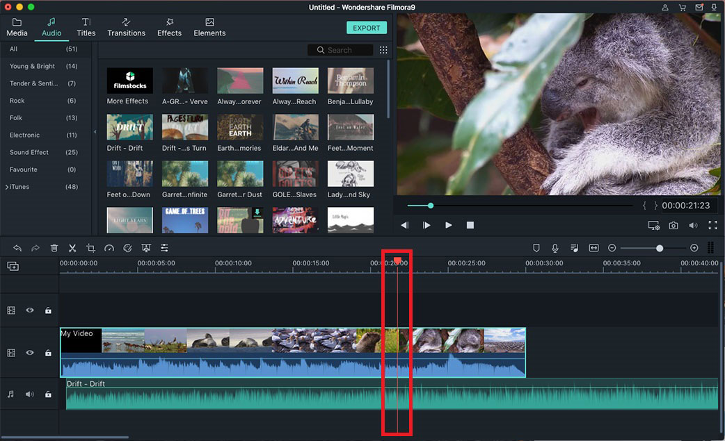 how to add music to video files mac
