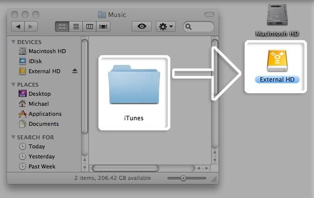 backup itunes to icloud-external hard drive