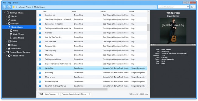 backup ipod music to computer or itunes-iExplorer