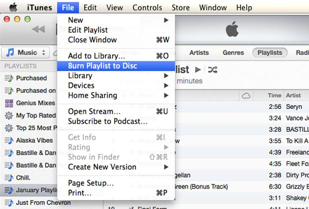 burn itunes music to cd using itunes