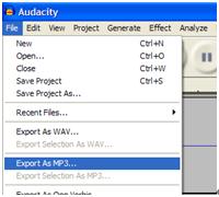 convert wma to mp3 audacity