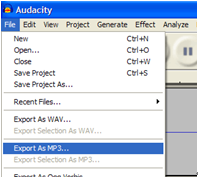 convert wav to mp3 with audacity
