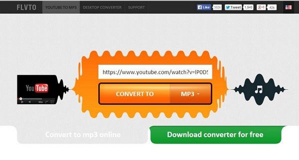 Download and convert Youtube videos to iTunes-Downlaod flvto.biz