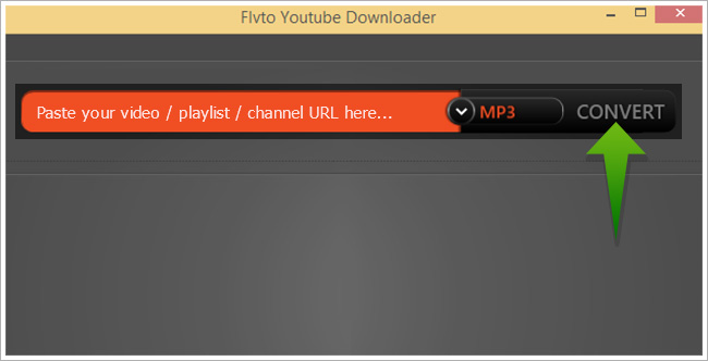 Download and convert Youtube videos to iTunes-Open the Flvto YouTube Downloader