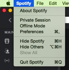 share playlists on Spotify-select spotify and preferences