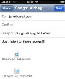 email music from itunes on iphone