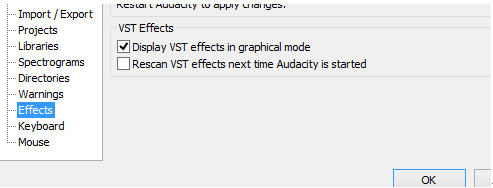 use audacity vst plugins