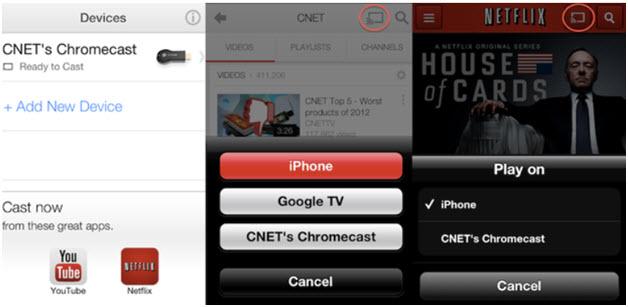 Spotify Chromecast for iOS-add device