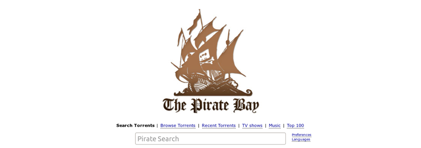Free Music Torrent Sites - The Pirate Bay