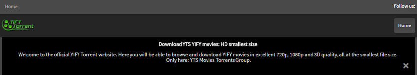 Free Music Torrent Sites - YIFY Torrents