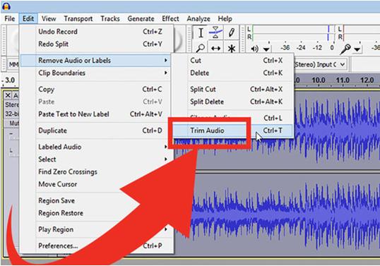 use audacity to edit video