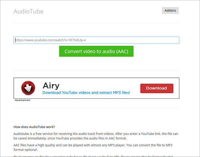 youtube to aac