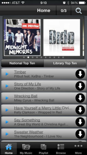 best music downloader for iphone-Freegal Music