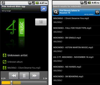 mp3 music download app android