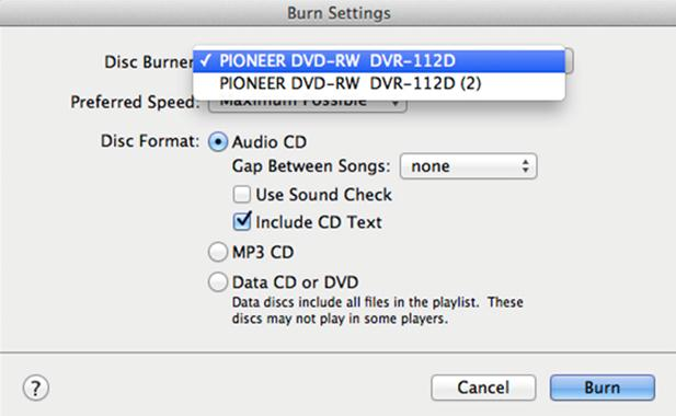 Download music from Youtube to CD-select perfect setting for your disk