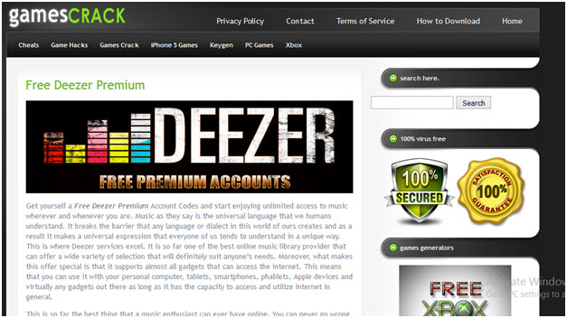 Deezer Premium - see all the processes