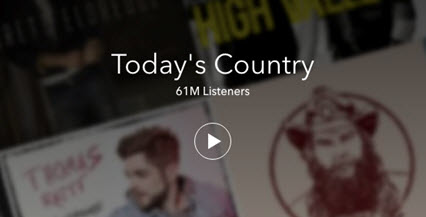 Hot Radio Programs on Pandora-Today's Country