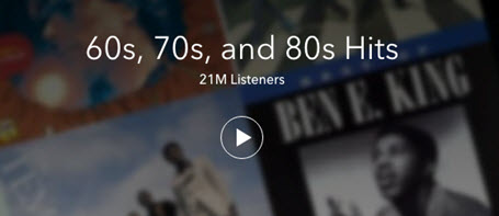 Hot Radio Programs on Pandora- 60s, 70s and 80s Hits