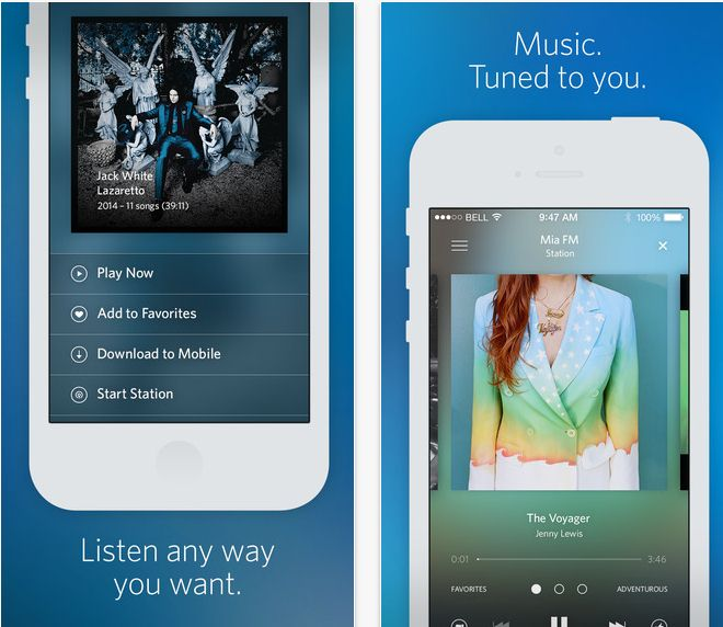 alternatives to spotify- Rdio