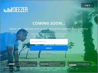 deezer login page