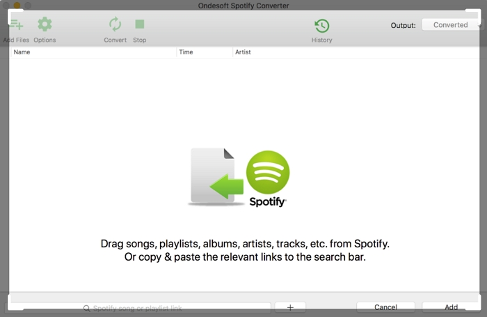 mp3 player spotify-Ondesoft Spotify Converter