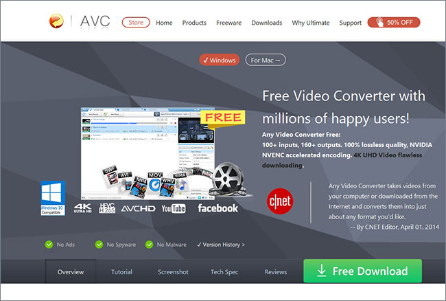 youtube to windows media player -Any Video Converter