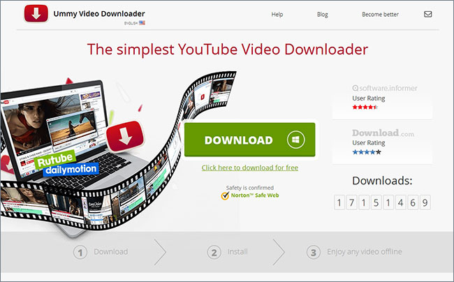 convert youtube to windows media player  -Ummy Video Downloader